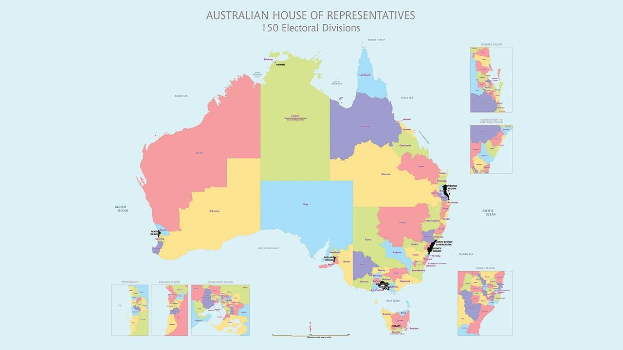 Map Of Australia Before Federation.The Australian Constitution In Action Redistribution Of Electoral