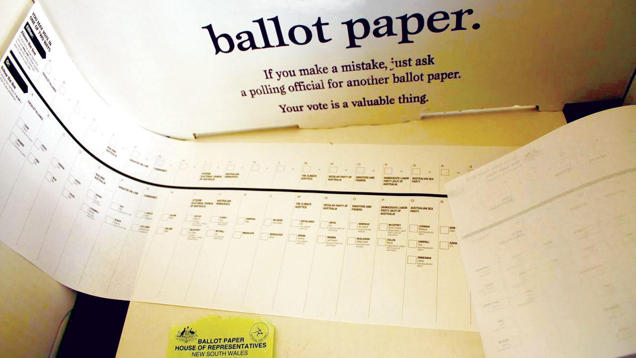 Australian Senate ballot paper